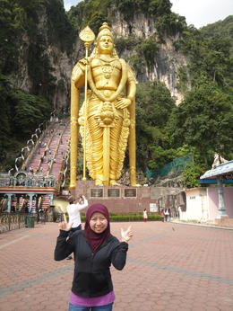 Photo of Kuala Lumpur Batu Caves and Temple Tour from Kuala Lumpur after i finished climbing the 272 steps of stairs..