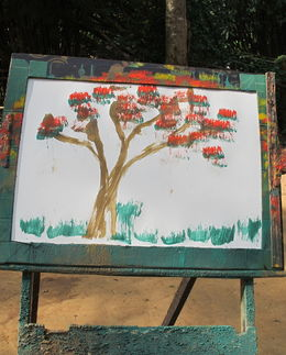 Painting by Elephant at Chiang Dao Elephant Camp , Sanjeev P - December 2015