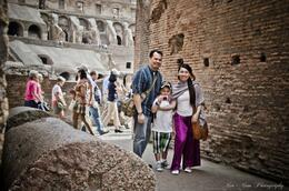 Photo of   first family pic in Colloseum, Roma