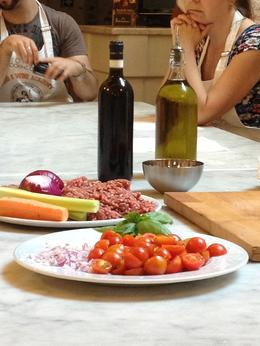 Photo of Florence Small-Group Italian Cooking Class in Florence Ingredients for Sauce One