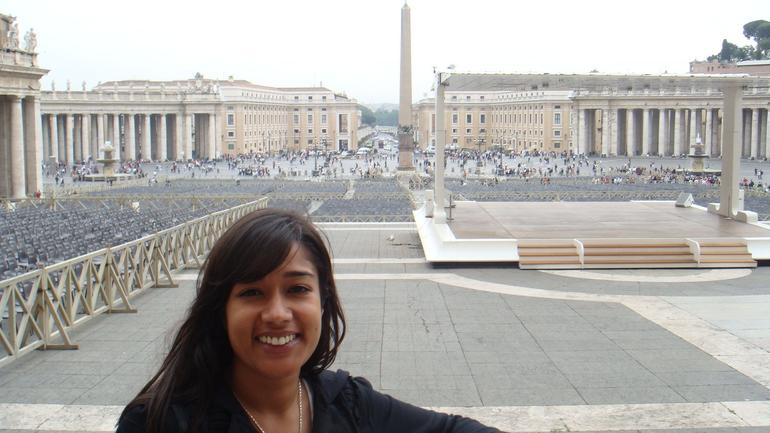 Me - Sadaf view of St. Peter's Square - Florence