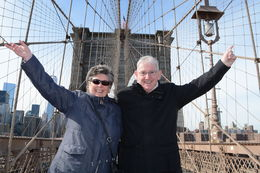 this my Wife and I Brian and Brenda on Brooklyn Bridge , Topsy - March 2015