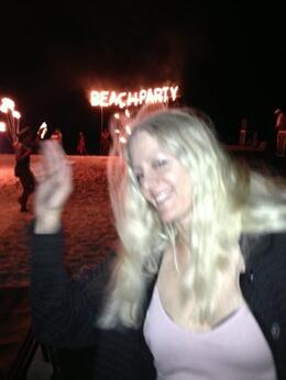 Me --Anita DeFrancesco on a beach party at Secrets Royal Beach.... , Anita D - December 2014