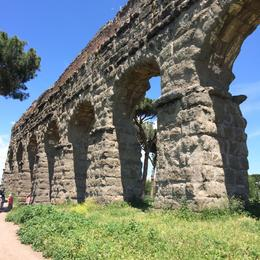 Photo of Rome Catacombs and Roman Countryside Half-Day Walking Tour Roman aqueduct