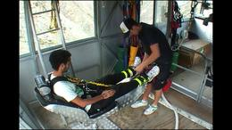 Photo of Queenstown Queenstown Nevis Highwire Bungy Jump Strapping me in