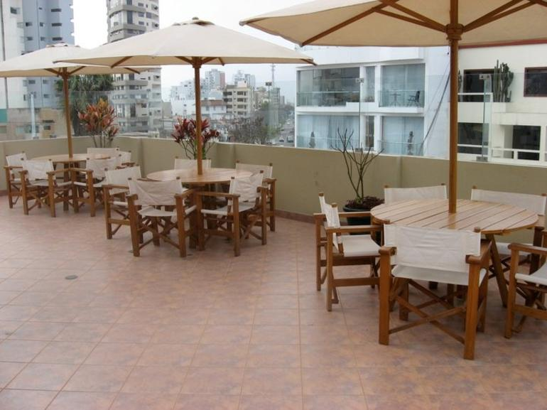 Tables at the Rooftop Bar - Lima