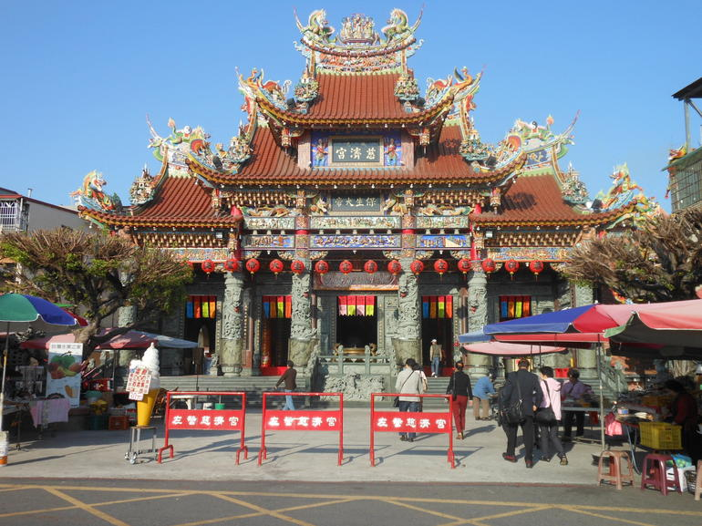 Temple at Tiger and Dragon Pagodas in Kaohsiung - Taiwan
