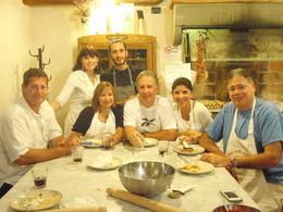 Photo of Florence Florence Cooking Class: Learn How to Make Gelato and Pizza All of us sitting together