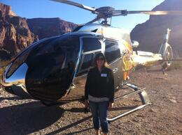 At the bluff on the Grand Canyon All American Helicopter Tour, laura s - June 2014