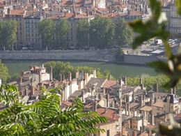 Shot of the river from up on the hill beside the Basilique Notre Dame de Fourvière., Tighthead Prop - September 2010