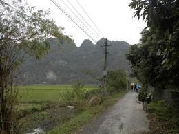 Photo of Hanoi Small-Group Vietnamese Countryside Tour by Bike and Boat from Hanoi Biking thru the countryside