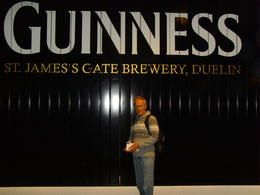 Photo of Dublin Skip the Line: Guinness Storehouse Entrance Ticket My husband's excitement, having his photo taken at the famous gate