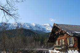 Traditional house and snowy mountains... , Athanasia T - May 2015