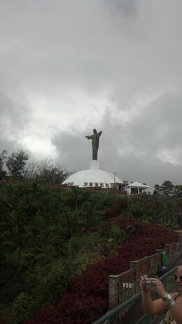 Photo of Puerto Plata Puerto Plata City Tour with Cable Car Ride Replica statue of  and quot;Christ the Redeemer and quot;; seen from Cable Car ride