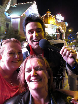 Jen, Rach & Elvis, Jeff - February 2012
