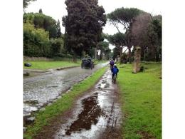 Even on a rainy day a bike trip along Via Appia is fantastic!!! , Hans W - April 2013