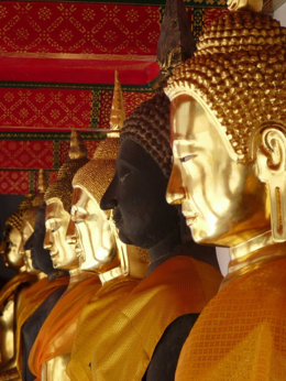 Several Buddha's at Wat Pho., kellythepea - October 2010