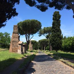 Stopping to stroll along the Ancient Appian Way outside Rome., laura s - June 2014