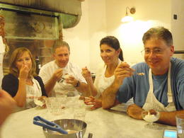 Photo of Florence Florence Cooking Class: Learn How to Make Gelato and Pizza enjoying gelatto