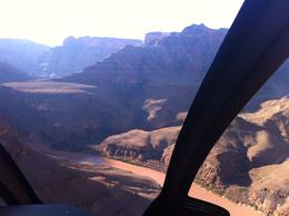 Entering the West Rim of the Grand Canyon on the the All American Helicopter Tour, laura s - June 2014