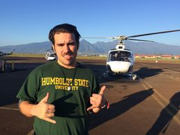 Photo of Maui West Maui and Molokai Exclusive 45-Minute Helicopter Tour Getting ready for the flight!
