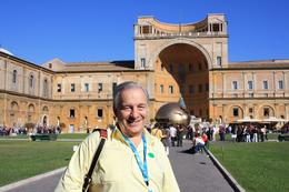 Bill in the Vatican Fir-Cone Garden, William G - October 2010
