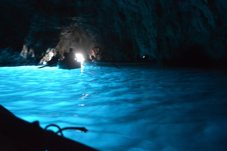 Inside the Blue Grotto - Rome