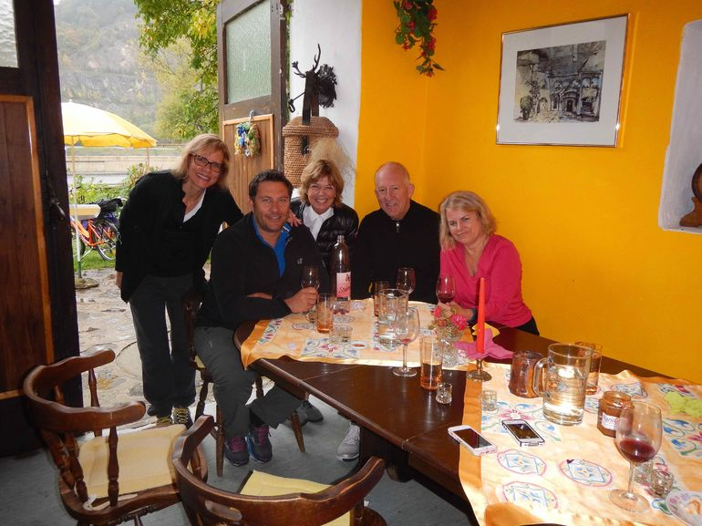 We dried out a bit from the rain while we had lunch, sampled local wines and tried Sturm - the drink Austrians love!!