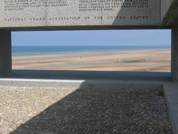This photo is from the National Guard Memorial, but it provides a great idea of how open the beach was, and how much coverage German gunners had over those attempting to come ashore., Steven B - July 2009