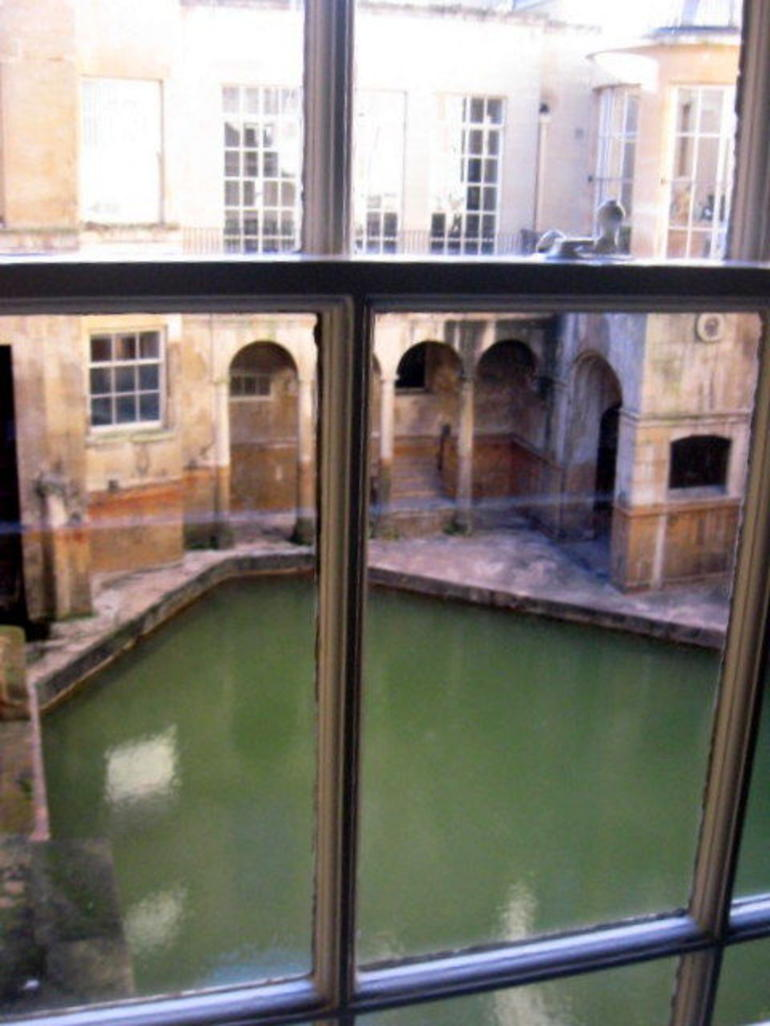 One view of the Roman Bath - London