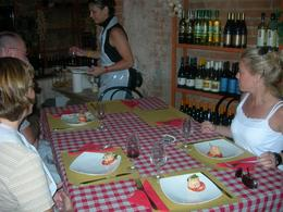 Photo of Florence Tuscan Cooking Class and Dinner in Florence Plating our appetizer