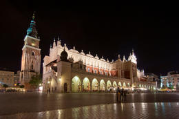 Rynek Glowny (Main Market Square) in Krakow with Sukiennice and Cloth Hall - September 2011