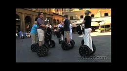 Getting used to the feel of a segway in Florence! - July 2011