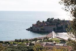 View of the exclusive resort of Sveti Stephan. , Paul M - September 2014