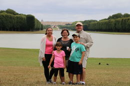 Our family in front of the Palace of Versailles , Jen - August 2015