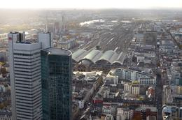 The camera points towards Frankfurt central train station in this picture. , David Lally - December 2014