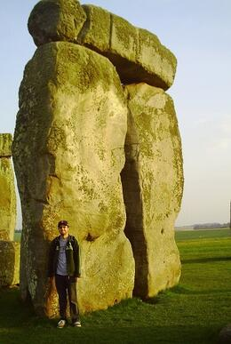 """Showing how tall the stones are, I am 6'3""""., Brenton K - May 2010"""