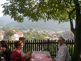 Photo of Vienna Wine Tasting Bike Tour departing Vienna The view for lunch!