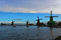 View of 4 of the windmills. , John D - April 2015