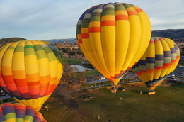 balloons are close together, so this was taken right after takeoff , David A - January 2014