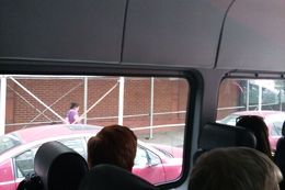 This is an example of what you're able to see from the back of the minibus , Ken - June 2016