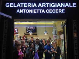 Our tour group notice the small size! at the last stop on the tour, an amazing stop at an authentic gelateria. There are lots of not-so-great gelaterias in the city, so we really appreciated this ... , Angelica B - May 2016