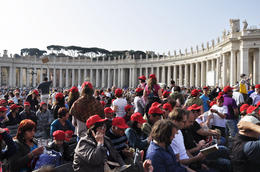 Photo of Rome Papal Audience Ticket at Vatican City Esperando a Francisco