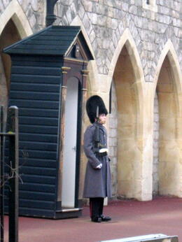 Photo of   Guard near exit to Windsor Castle