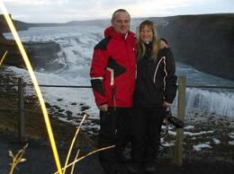 My wife and I at the top of the fall - January 2010