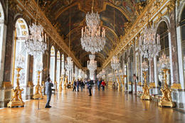 Photo of Paris Versailles Walking Tour with Optional Fountain Show Hall of Mirrors