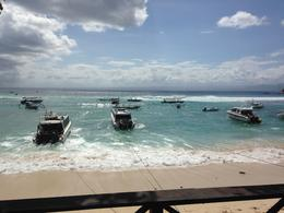 The view of the beach from the lunch venue , Sharan B - June 2014