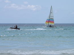 Beautiful white sand beach and warm waters with plenty of activity opportunities. , Tanya M - May 2013