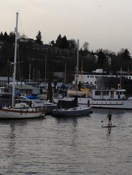 Coming from Fl, I see some crazy paddle boarder out in the cold 40 degree weather !!! , P K K - January 2013