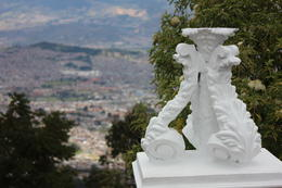 Decorative sculpture up at Monserrate., Bandit - September 2012